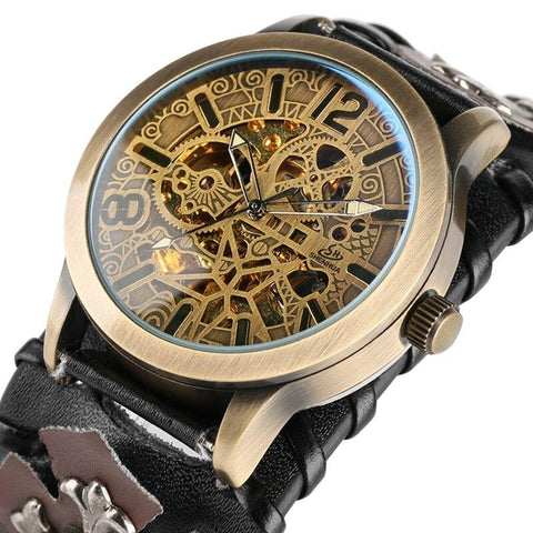 montre doré steampunk