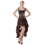 robe steampunk marron