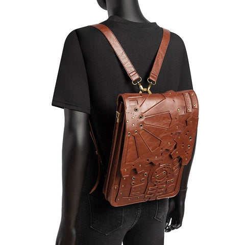 sac steampunk marron