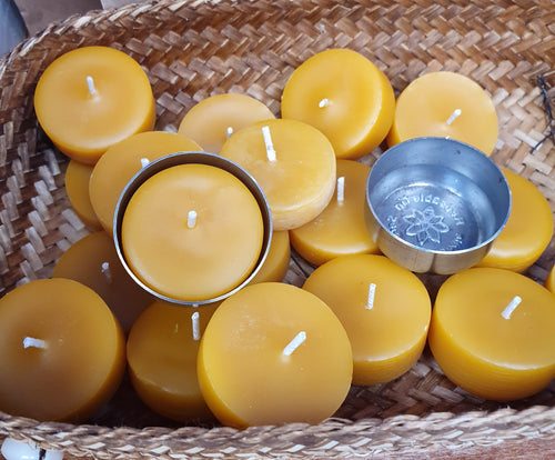Reusable tealight candle cases