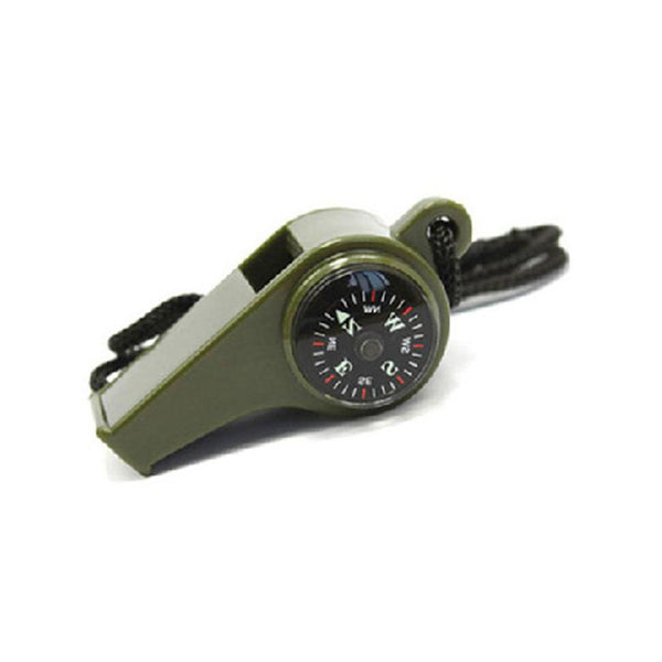 Emergency Whistle with Compass Thermometer