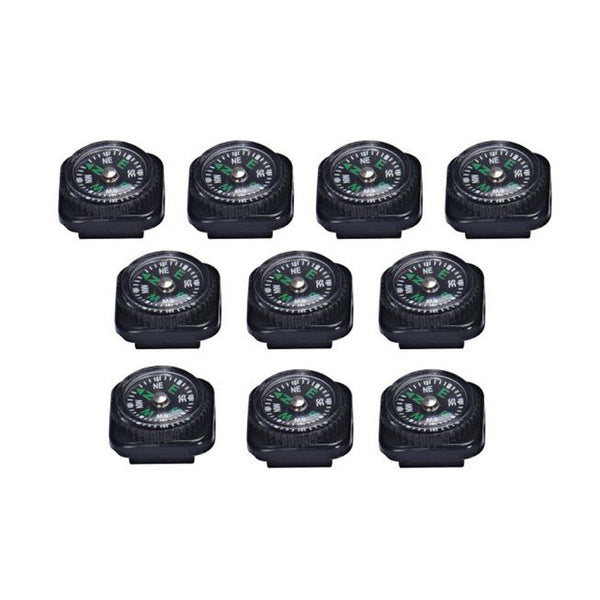 10 Pcs Mini Compass For Paracord Bracelet