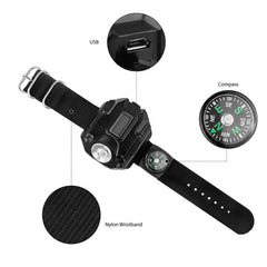 Outdoor LED Flashlight Watch