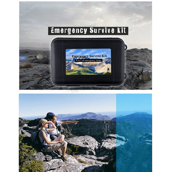 9 Pcs Camping Emergency Box