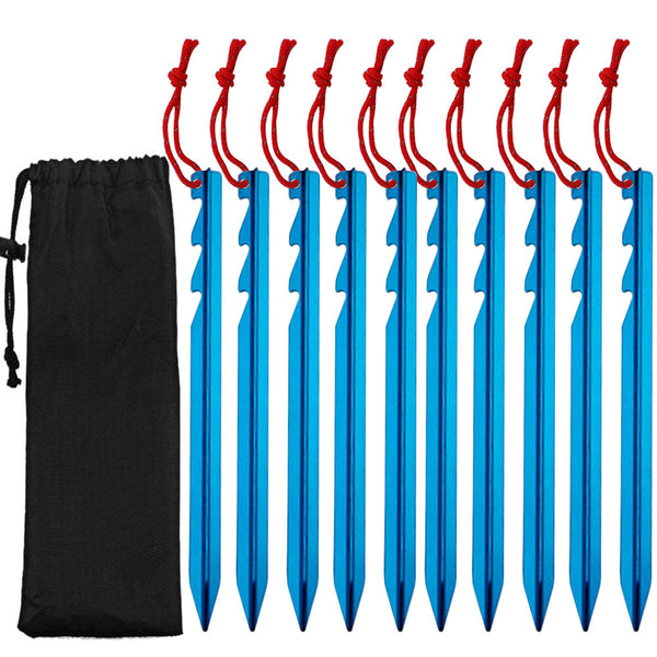 10 Pcs Lightweight Camping Tent Pegs Stake