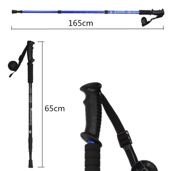 2 Pcs Aluminium Trekking Pole (Black)