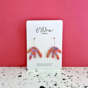 Sunset Swirl Collection | Squiggle Hoops