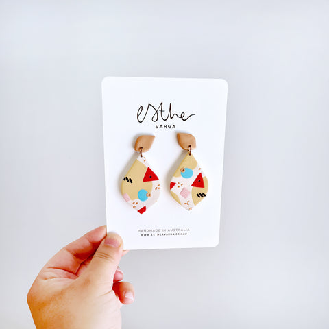 Gorgeous Geo Teardrop Dangles