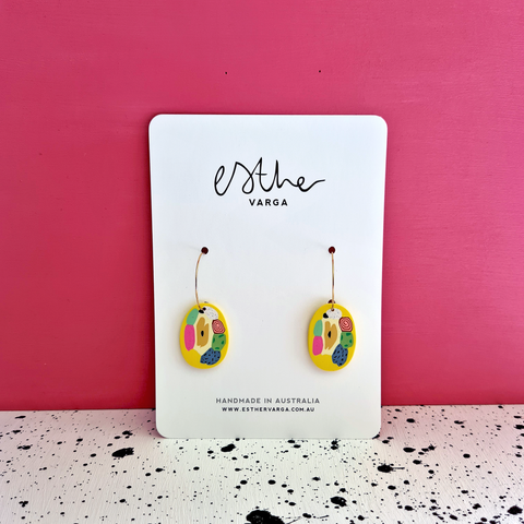 Yellow Cane Collection | Organic Hoops