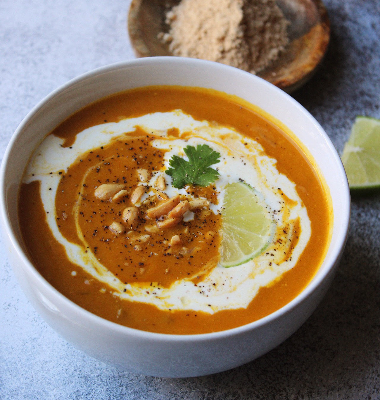 Thai Butternut Squash Soup with Maca Powder