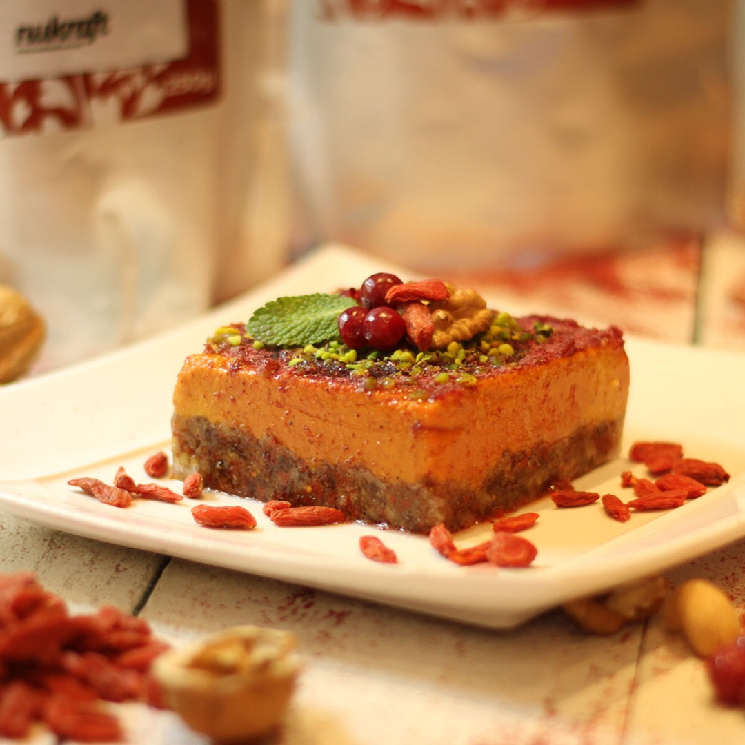 Organic Cranberry & Goji Raw Vegan Cheesecake