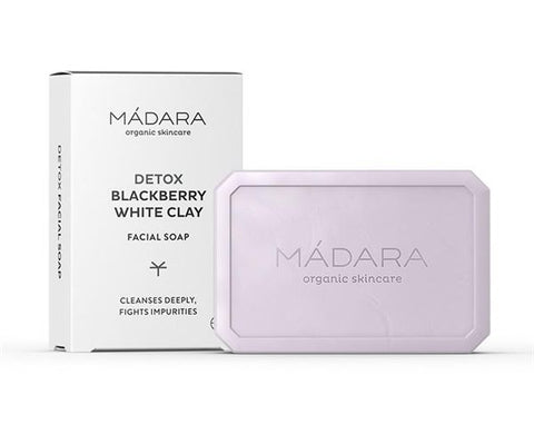 Mádara DETOX Blackberry & White Clay Facial Soap