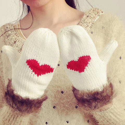 Cashmere Heart Gloves