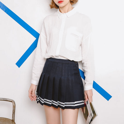 Black/Navy/White Skirt