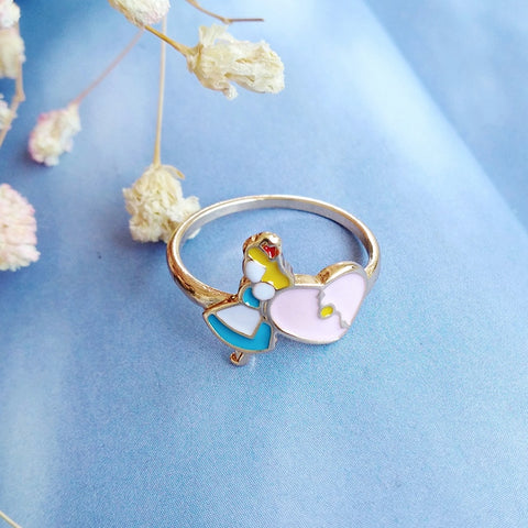 Cute Kawaii Alice in Wonderland Rings