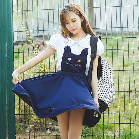 Kawaii Cat Skirt
