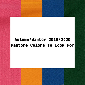 Pantone's Autumn/Winter 2019/2020 Colors To Look For