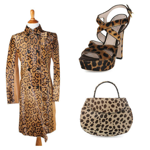 animal print furs at michael's consignment shop for women
