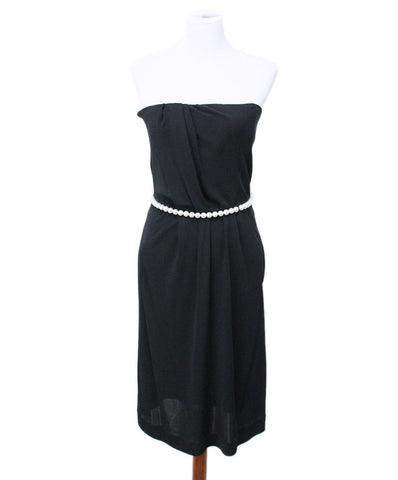 michaels luxury consignment chanel pearl trim black dress