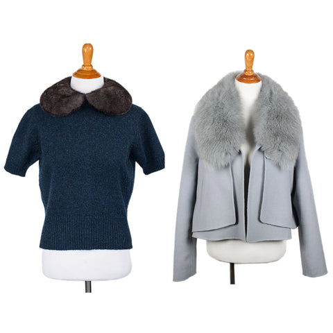 Fur accents at michael's consignment shop for women