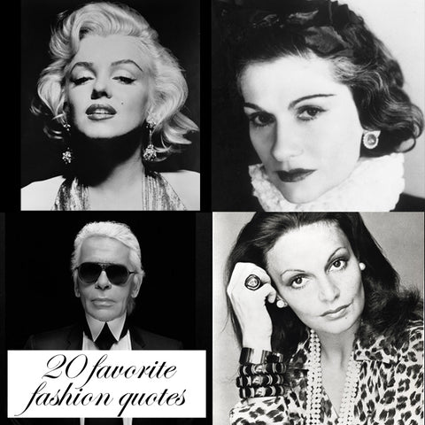 20 favorite fashion quotes