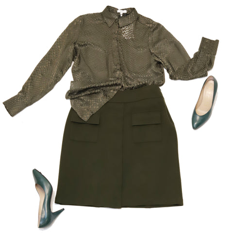 All Green Hues Consignment Styling