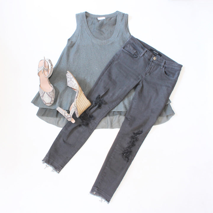 J Brand pants and Brunello Cucinelli Top