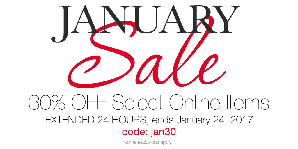30% Off January Sale extended