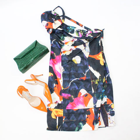 Christian Lacroix Dress and Manolo Blahnik Shoes