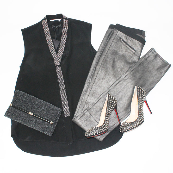 Christian Louboutin Shoes and Helmut Lang Pants