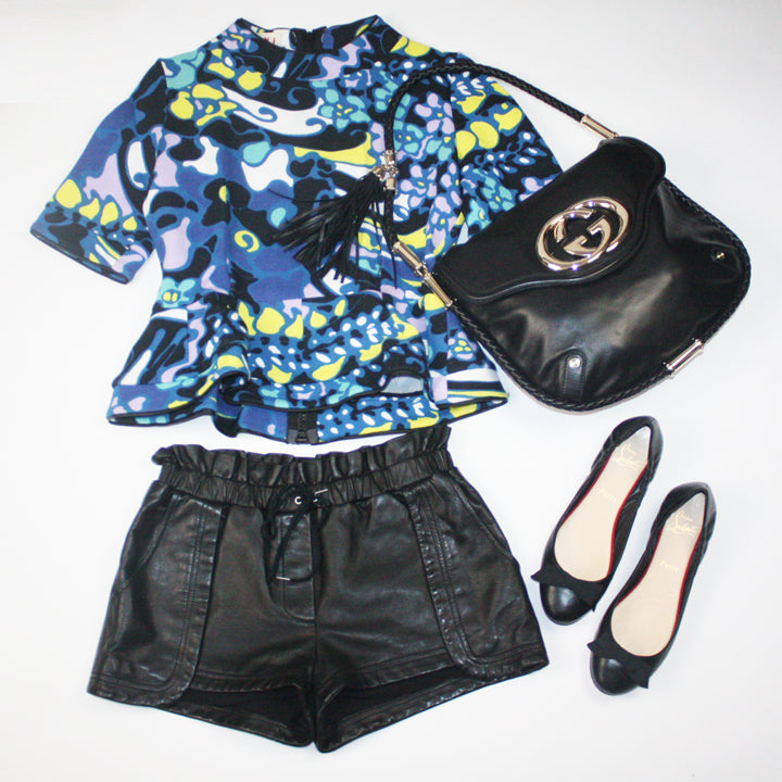Marni Top and Rebecca Minkoff Shorts