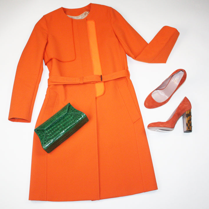 Reed Krakoff Coat and Nancy Gonzalez Clutch