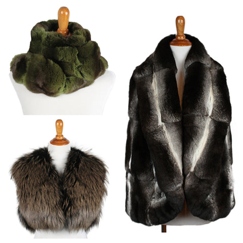 stay warm with fur from michael's consignment