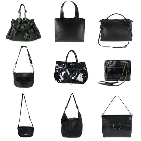 Black Designer Handbags for Less
