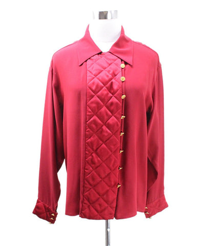 Michaels luxury consignment red Chanel blouse