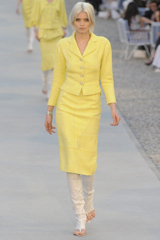 michaels luxury consignment Chanel yellow suit