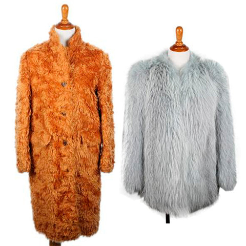 colorful furs at michael's consignment shop for women