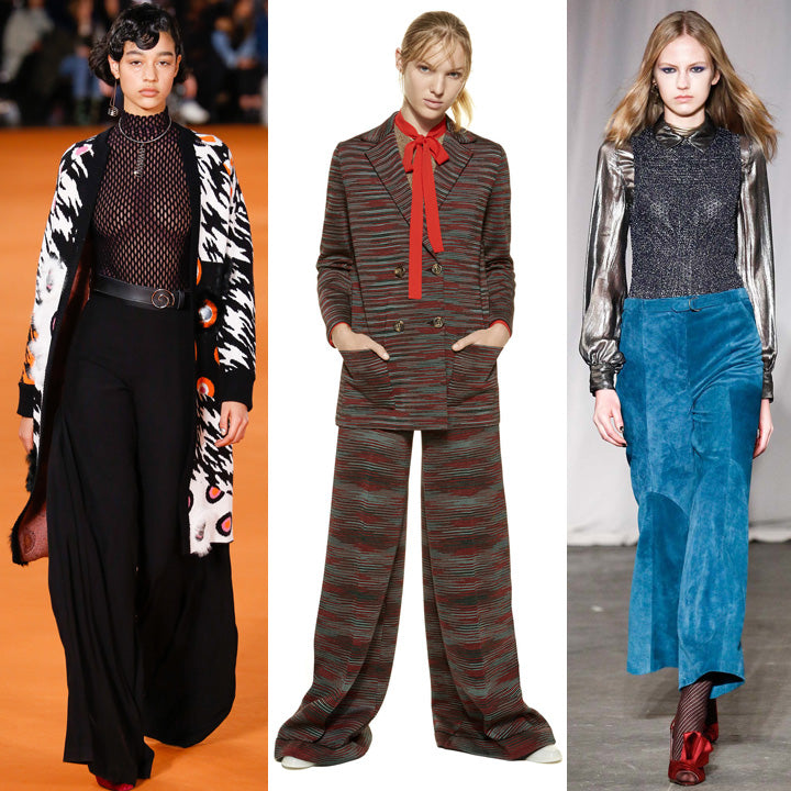 wide leg pants micro trend NYFW fall winter 2016