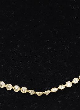 14K Gold Cubic Zirconia Necklace 1