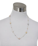 Multicolored Pearls 18K Gold Necklace