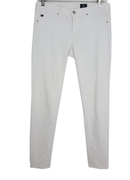 Ag White Denim Pants 1