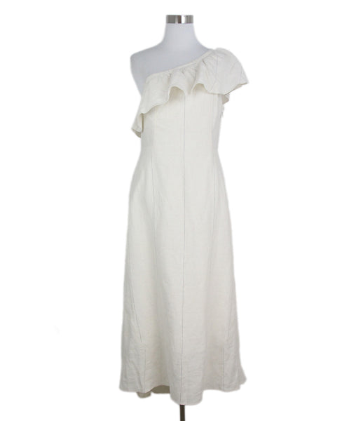 A.L.C. Neutral Ivory One Shoulder Dress 1