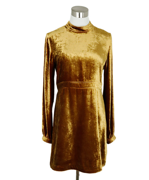 A.L.C. Size 6 Marigold Velvet Dress 3