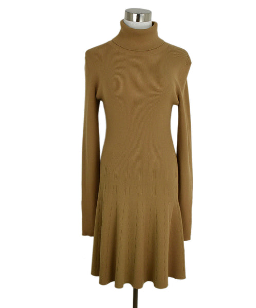 A.L.C. Neutral Tan Viscose Polyester Dress 1
