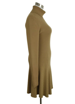 A.L.C. Neutral Tan Viscose Polyester Dress 2
