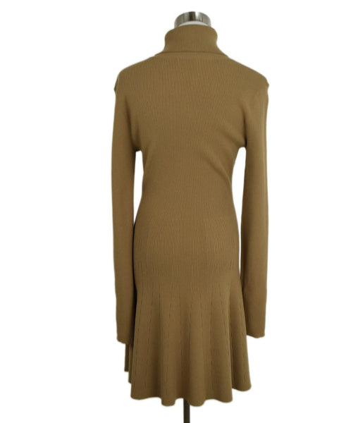 A.L.C. Neutral Tan Viscose Polyester Dress 3