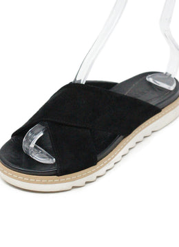 A.MEN. Black Suede Leather Sandals 1