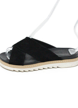 A.MEN. Black Suede Leather Sandals 2