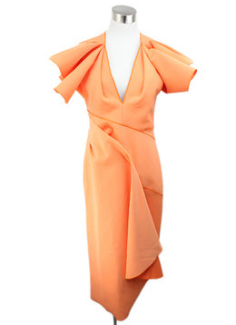 Acler Orange Peach Polyamide Dress 1