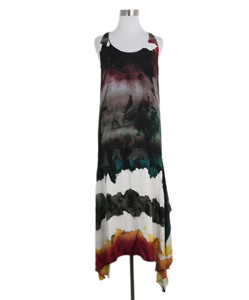 Acne Studios Tie Dye Black Plum Dress 1